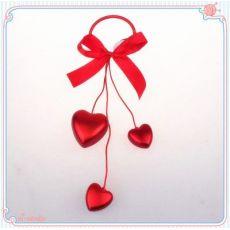 情人节装饰爱心串 塑料电镀爱心