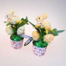 复活节泡沫装饰小型盆栽 泡沫彩蛋 复活节免子