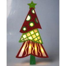 齐发娱乐_圣诞灯饰 LED圣诞树 圣诞树纸质挂件带灯