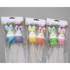复活节兔子造型 带插枝复活节兔子