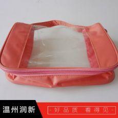 齐发娱乐_无毒环保TPU化妆包 透明塑料手提袋 广告化妆品购物袋子