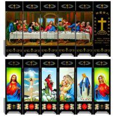 漆器仿古小屏风 046 神爱世人 宗教 商务工艺礼品