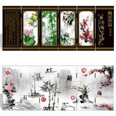 漆器仿古小屏风 036 小号 梅兰竹菊 中国特色工艺礼品