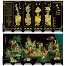 漆器仿古屏风 002 琴棋书画 中国特色工艺品