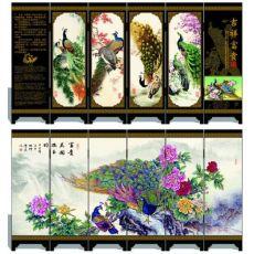 漆器仿古小屏风 吉祥富贵 工艺品 中国特色礼品