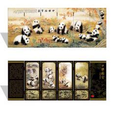 漆器仿古小屏风 030 小号 中华国宝图 中国特色礼品