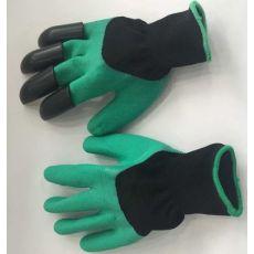 园林种花手套可挖土手套浸胶手套防护绝缘手套