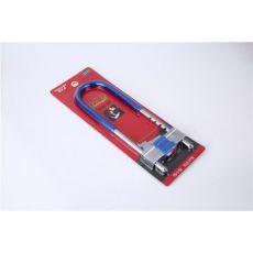 玻璃门锁拉手锁把手锁防盗锁双门双开加长U型锁插锁店面商铺专用