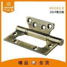 挂电镀不锈钢子母4寸合页青古铜免开槽合页非标A1-004-03