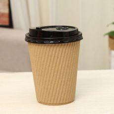 黄牛皮纸单层双层咖啡杯一次性纸杯外带打包杯奶茶杯豆浆杯