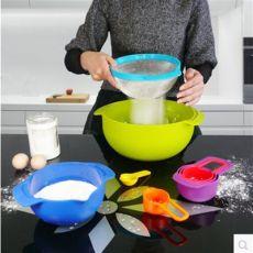 英式彩虹厨具九件套 烘焙工具 彩虹烘焙套装量勺 厨房用具