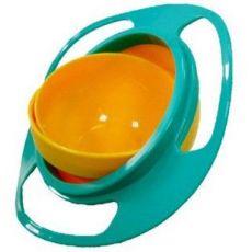 旋转飞碟碗陀螺碗玩具碗飞碟碗不撒不倒碗 儿童 玩具碗