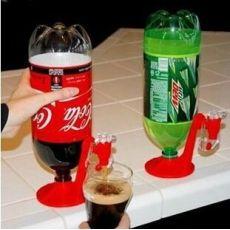 可乐饮水器可乐瓶倒置饮水机饮用器简易瓶装汽水开关饮料器