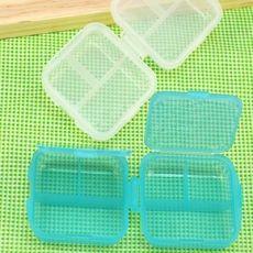6格双层塑料药盒 广告礼品药盒 便携式药盒 双层6格药盒