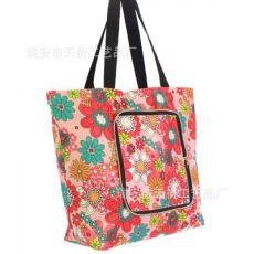 五分格彩色拉链购物袋 广告宣传折叠袋