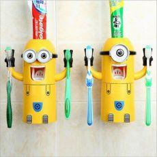 小黄人自动挤牙膏器 创意牙刷架 防尘漱口杯三合一大人小孩都能用