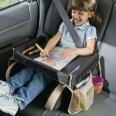 爆款汽车儿童安全座椅旅游托盘 车载家用儿童防水收纳玩具桌
