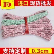 直径约0.3cm国产红绿圆松紧带 圆弹力双色圆松紧带