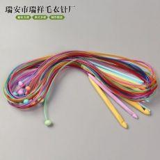 毛衣针编织工具塑料ABS阿富汗地毯钩针 长1.2米 12根一套装袋