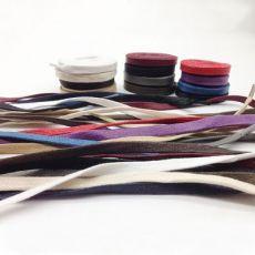 鞋带扁 蜡带彩色批发线绳皮鞋0.7宽 打蜡鞋带