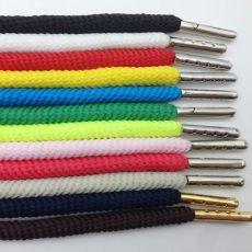 彩色鞋带 涤纶彩色环保螺纹包芯 服装裤腰绳金属扣头休闲腰带