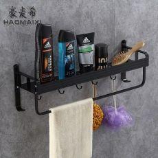 浴室可毛巾架 太空铝浴巾架 卫浴五金挂件 单层置物架