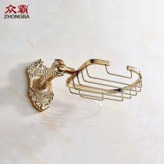 卫浴五金挂件6807-G皇冠皂网香皂置物架收纳架沥水架