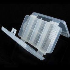 透明塑料收纳盒 十格双层折叠便携随身药盒