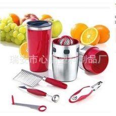 手动不锈钢榨汁机八件套装榨汁器压汁器
