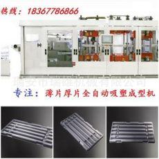 电子托盘全自动吸塑冲裁成型一体机 正负压热成型机