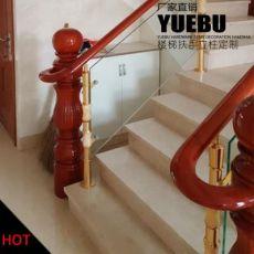 现代风家庭楼梯栏杆扶手立柱 直线式花柱铝合金YB48