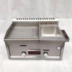 商用燃气扒炉 台式不锈钢手抓饼机 多功能帕尼尼机煎饼油炸关东煮